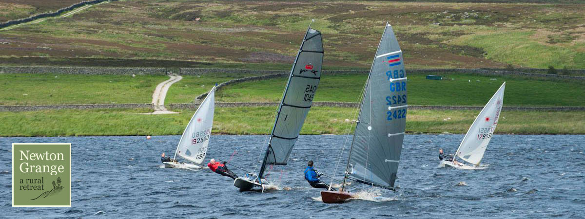 Sailing at Grimwith Reservoir