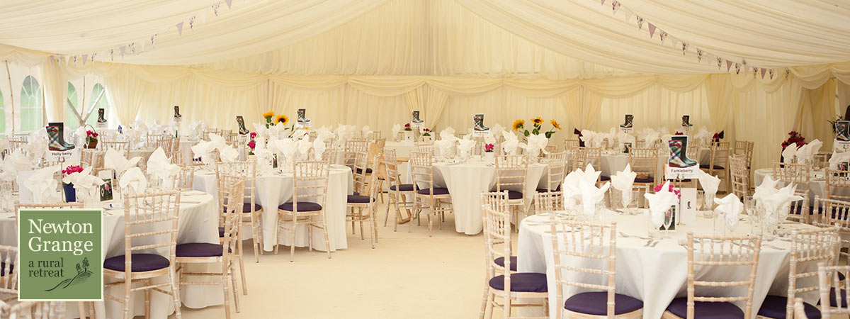 Yorkshire marquee at Newton Grange