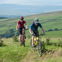 Mountain biking at Lower Winskill (North Yorkshire)