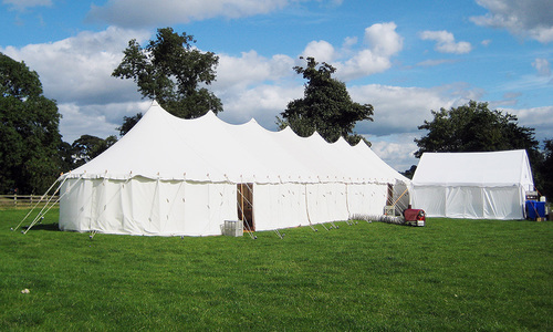Yorkshire canvas marquee hire