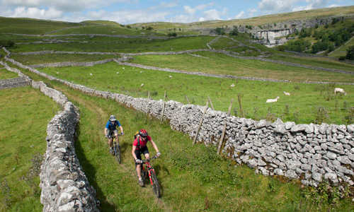 Cycling near Malham Cove